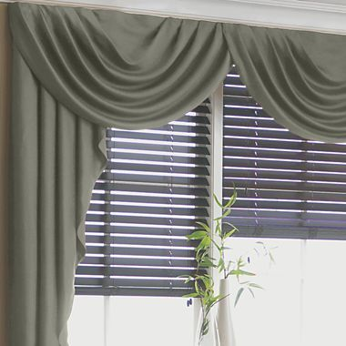 Curtains Ideas curtains jcpenney home collection : jcp home™ Supreme Antique Satin Cascade and Swag Valances ...