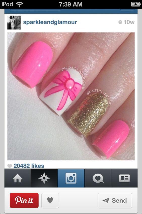 A pretty nail idea
