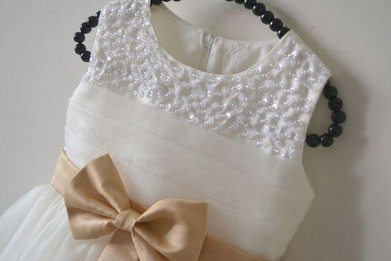 Ivory Flower Girl Dress by DLbaby9 on Etsy, $39.99