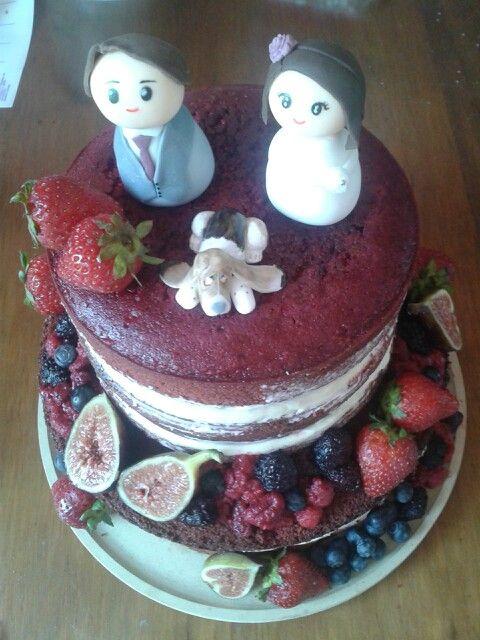 Torta rústico red velvet