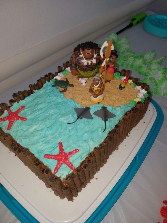 Cake Design Moana : Moana cake Birthday party Pinterest