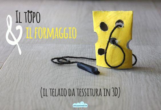Il topo e il formaggio: il telaio da tessitura montessoriano in 3D  3D lacing toy