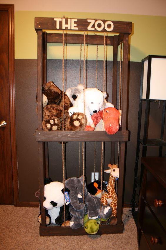 The Zoo stuffed animal storage. #nursery #organization