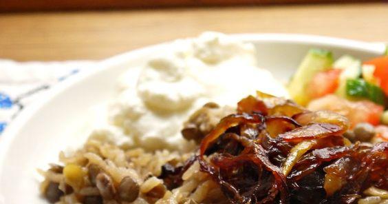 Bint Rhoda's Kitchen: Lentil Rice Pilaf, or Mujadara