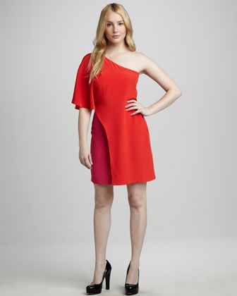 Two-Tone Overlay Dress at CUSP.