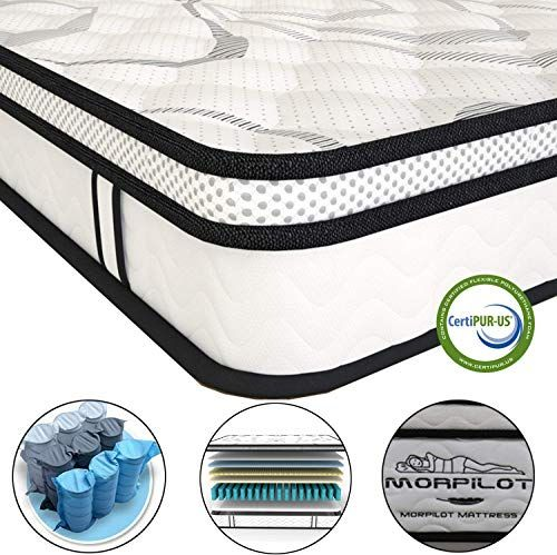 New 10 Inch Memory Foam Mattress Hybrid Innerspring Mattress Box Individual Pocket Spring Medium Firm Feel Motion Isolation Breathable Comfortable Ful In 2020 Full Size Mattress Memory Foam Mattress Foam Mattress
