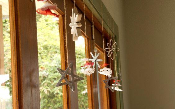 home made Christmas decorations