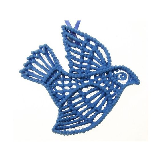 Best Seller Unique Blue Bird Sugar Ornament for that Special Gift... ($34) ❤ liked on Polyvore featuring home, home decor and holiday decorations