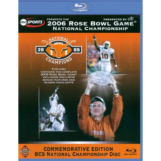 2006 Rose Bowl Game: National Championship - Texas vs. USC [Blu-ray]