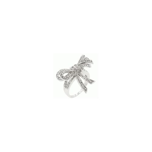 Large Cz Bow Ring (size: 07) (pack of 1 ea)