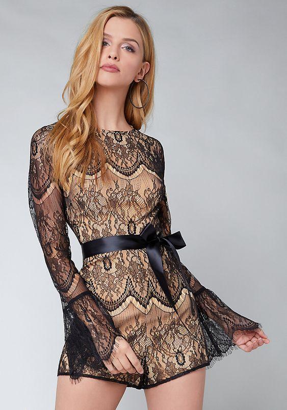 Sexy lace romper