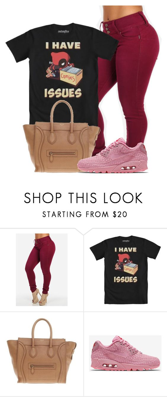 """""""#Shanghai"""" by mahogany-marie ❤ liked on Polyvore featuring mode, CÉLINE et NIKE"""