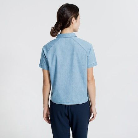 light denim short sleeve