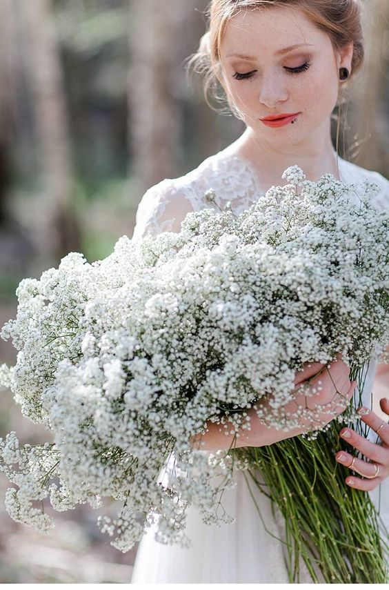 babys breath bridal shoot by Angelika Krinke