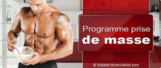 Programme de nutrition prise de masse