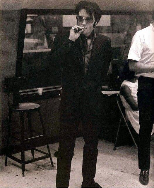 Elvis at Western Recorders in Burbank, CA on June 23,1968.