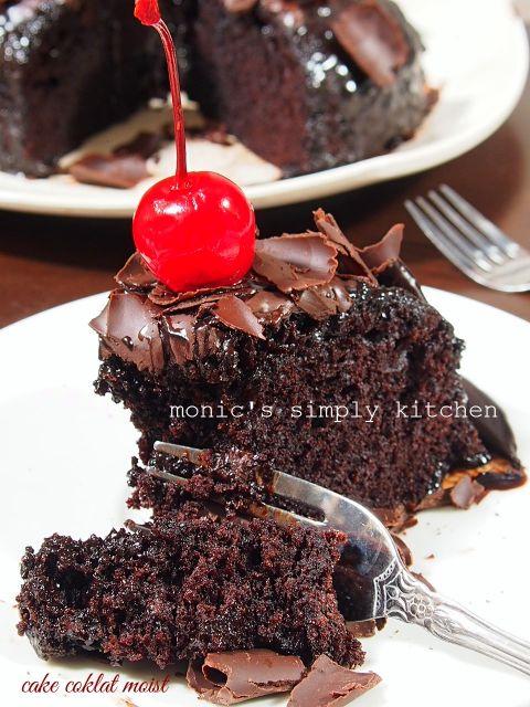 Cake Coklat Kukus Lembut Makanan Resep Kue Coklat Makanan Manis