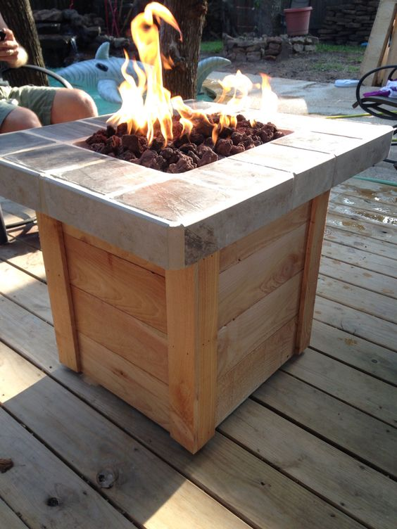 diy propane fire pit my weekend projects pinterest