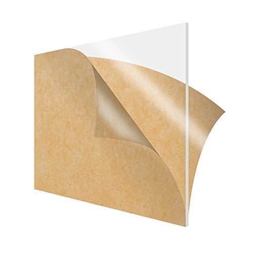 Simbalux Acrylic Sheet Clear Cast Plexiglass 12 X 12 Square Panel 1 4 Thick 6mm Transparent Plastic Plex In 2020 Diy Display Acrylic Plastic Sheets Acrylic Sheets