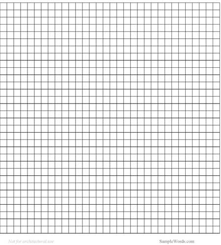 Graph Paper Template – Notebook Paper Template for Word