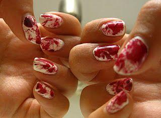 Blood Spatter Fingernails