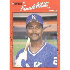 1990  Donruss # 262  Frank White  Kansas City Royals  Baseball Card  -  MINT #KansasCityRoyals