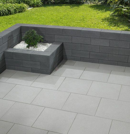 Vanity Wall Panels In Dark Gray Gartenmauer Stein Zeitgenossischer Garten Gartenmauer