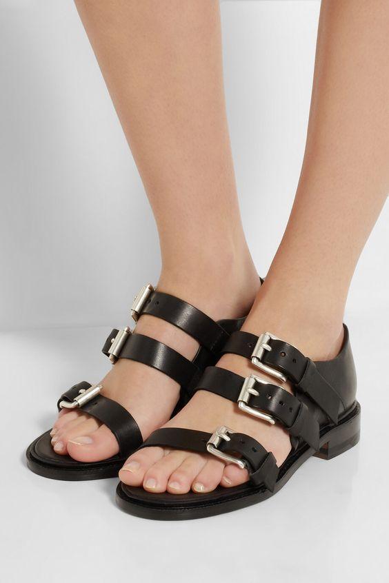 """Rag & Bone """"Hudson"""" leather sandals, on netaporter"""