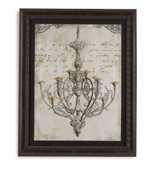 Bassett Mirror Chandiler I Framed Art [9900-248AEC]