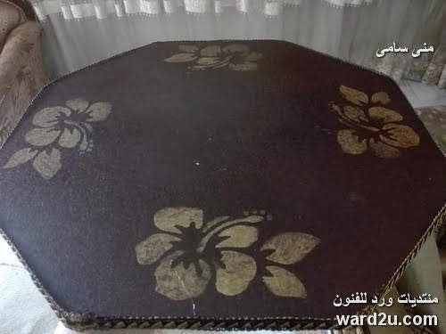 ديكوباج و عجينة قماش ترابيزة Decor Home Decor Handicraft