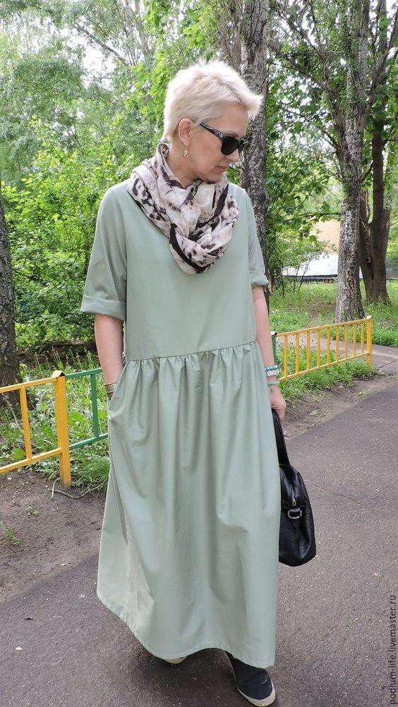 Платья ручной работы. Ярмарка Мастеров - ручная работа. Купить Летнее платье Бохо -. Handmade. Бохо, на каждый день, фисташковый