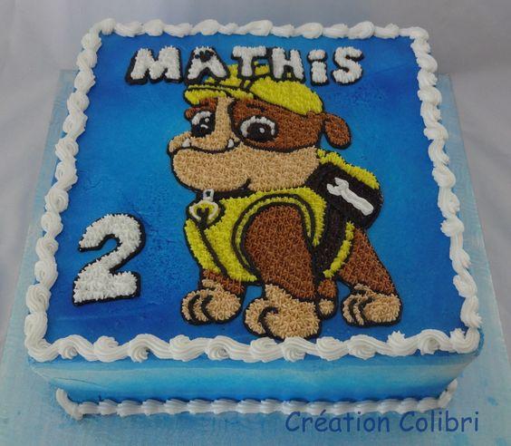 Gâteau Pat\u0027patrouille, Paw Patrol cake