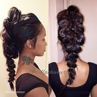 ponytail mohawk with weave - Google Search