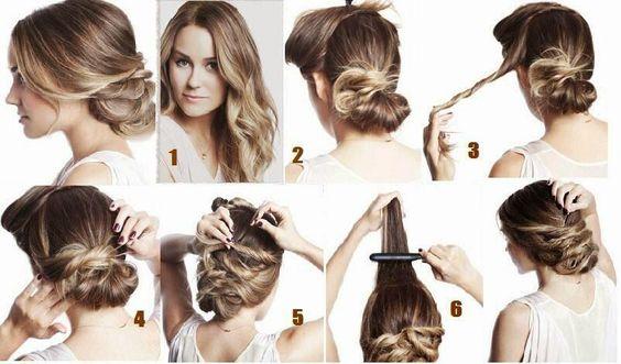 Tuto coiffure pour demain, finir la semaine avec un chignon simple mais classe ! #tuto #idée # ...