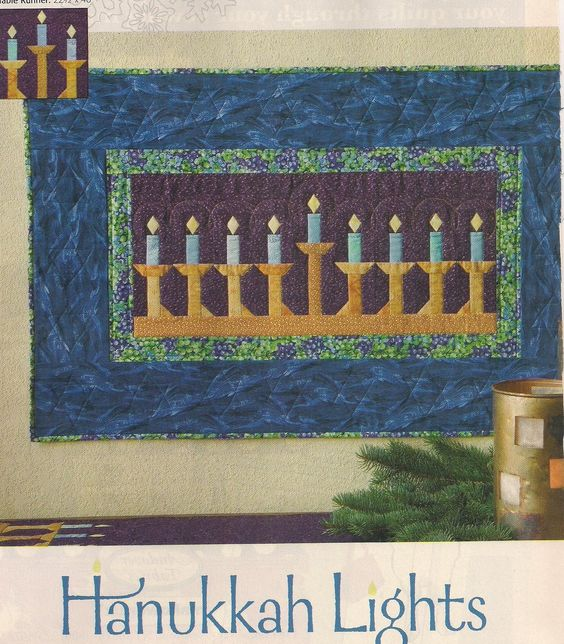 Hanukah Lights Quilt Pattern From Magazine Cindy Erickson via wyldrabbit Patterns . Click on the image to see more!