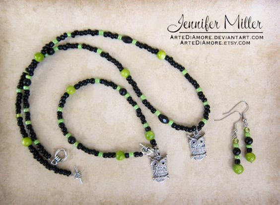 Jewelry Set  Necklace Bracelet and Earrings  Made by ArteDiAmore, $35.00