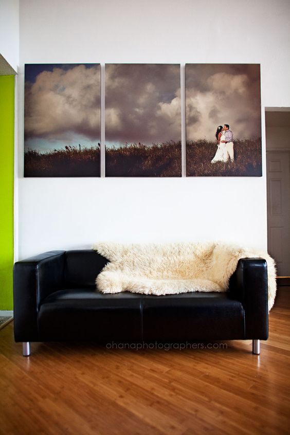 Would love to do this canvas cluster with one of our wedding pics on the beach - almost like a piece of art!