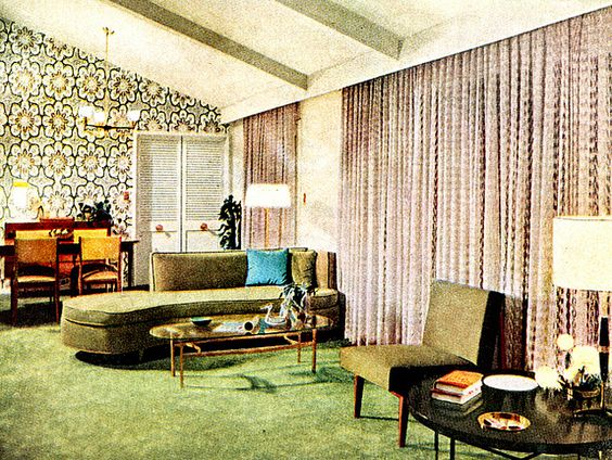 Furniture home magazine and modern living rooms on pinterest for 1950s modern living room