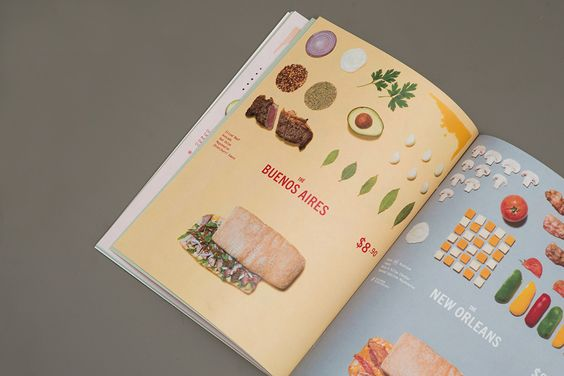Menu by Acre for Singapore based Italian restaurant brand Marco Marco