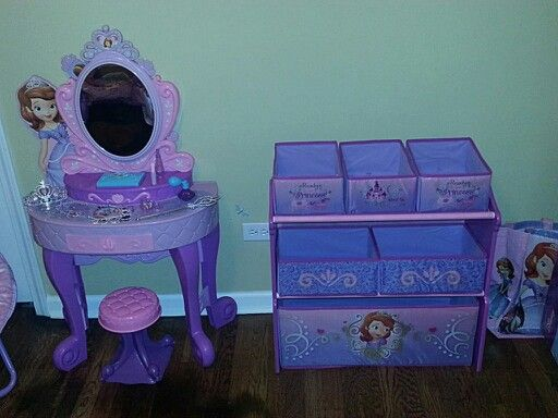 sofia the first vanity from toys r us and multi bin dresser from