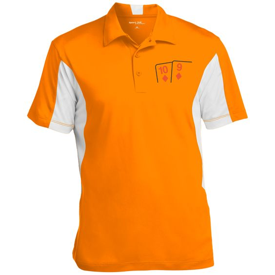 Colorblock Performance Polo (Td 9d on front)