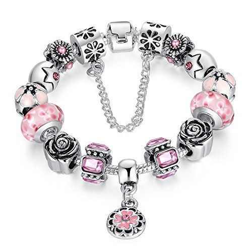 Baby Pink Cheap Pandora Style Bracelet