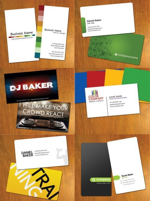 Simple and elegant free business cards templates, available in ...