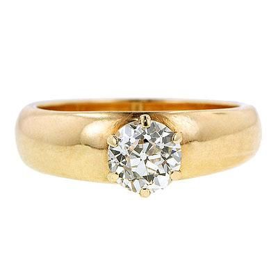 Vintage diamond engagement ring from Doyle & Doyle.