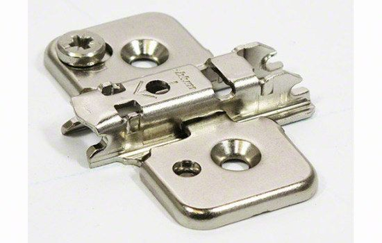 Blum 173H7100 CLIP Top One Piece Cam Mounting Plate Nickel Cabinet Hinges Cabinet Hinge Accessories Mounting Plates