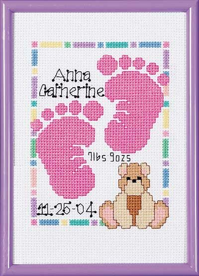 Baby Footprints Birth Announcement – Free Online Birth Announcements