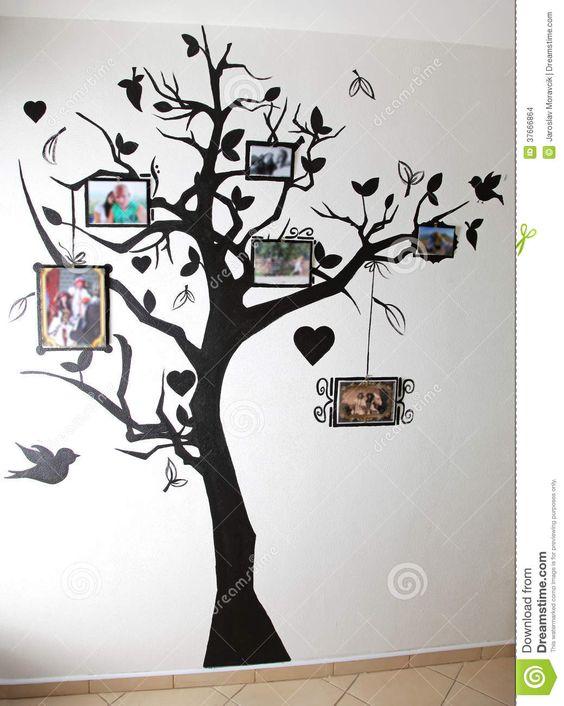 Como pintar un arbol negro en la pared buscar con google for Como pintar un mural exterior