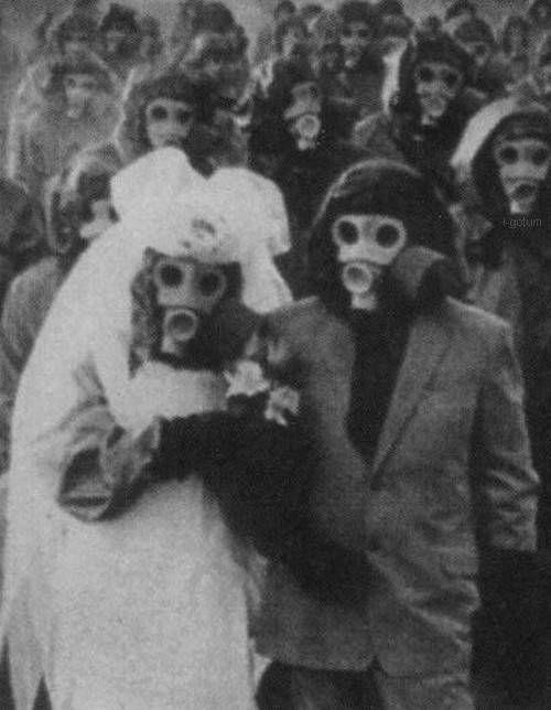 Vintage Creepy Gas Masks