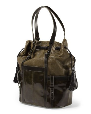 Leather Abella Bucket Bag