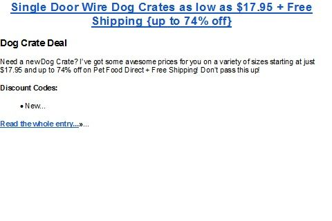 Metal Animal Crates are on sale and FREE shipping!!